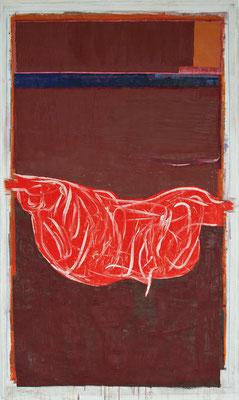 2010, Schinkenformales, Eitempera auf Papier