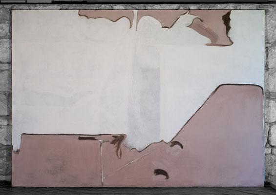 2011, Grosse Weisse Form, 297x207cm Leim, Eitempera auf Leinen