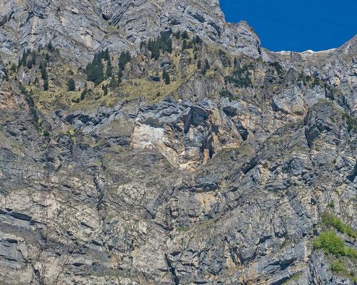 Abbruchstelle nach dem Felssturz vom Febr. 2016