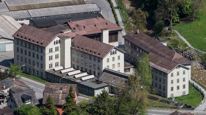 ehemalige Verbandstofffabrik im Löntschen,   Koordinaten 722607 213312