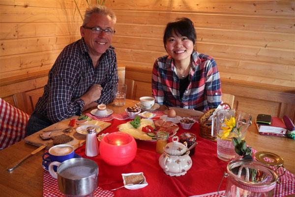 Wen & Klaus. Breakfast in the gardenhouse