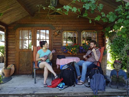Little folk festival at kingslake. Jenny & Philip Cain from  Tucson, AZ