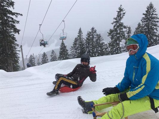 Sledding Sophie & Christian