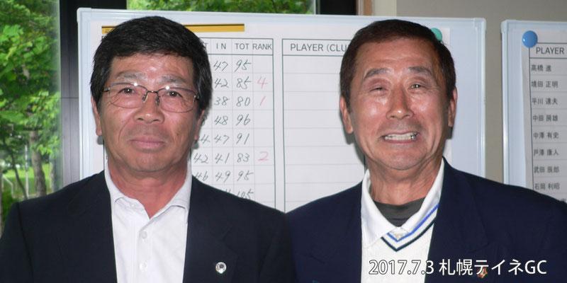 写真左から、2位 大澤稔、1位 鈴木啓一
