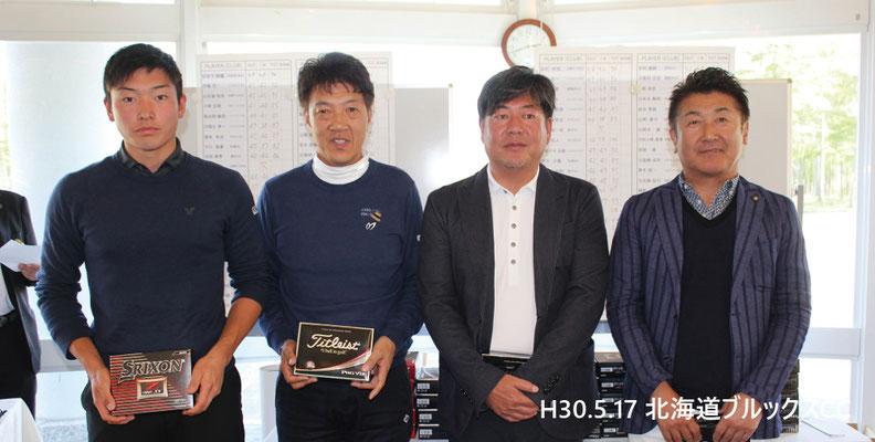 左から、小村優太、小林敏明、加藤隆三、松ヶ崎真秀