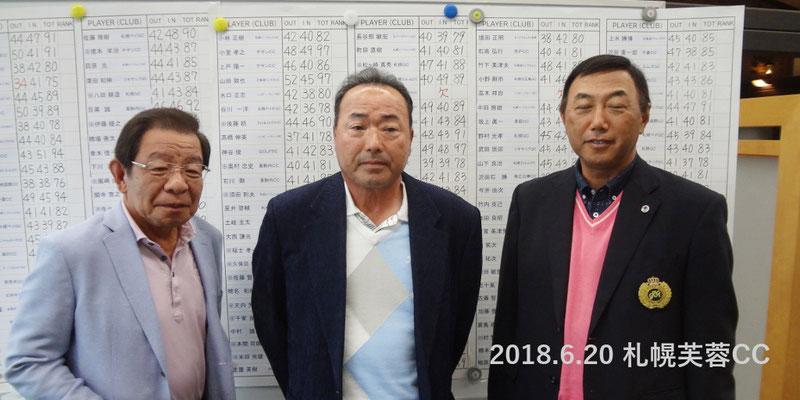 左から、沢田石勝、林政勝、高橋成司