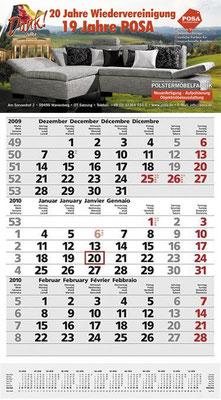 Dreimonatskalender POSA Jubiläum