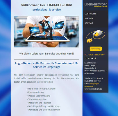 Login Network IT Service Ronny Langer