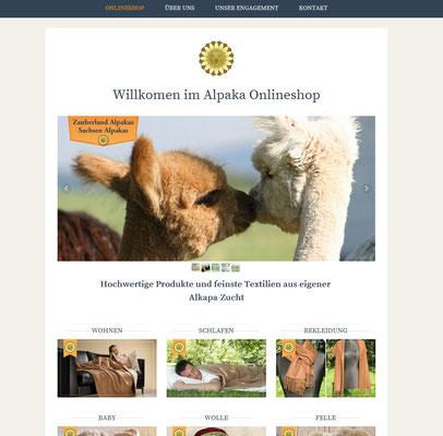 Alpaka Onlineshop