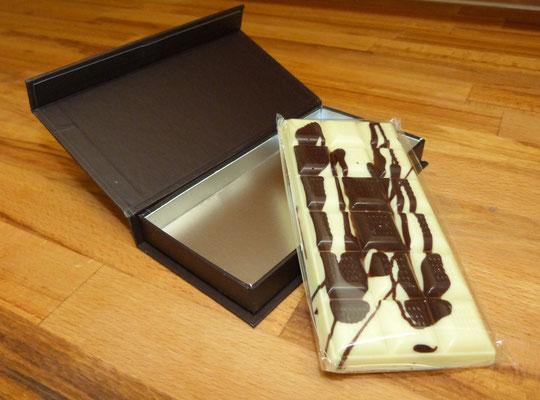 Handgeschöpfte Bioschokolade Tafel