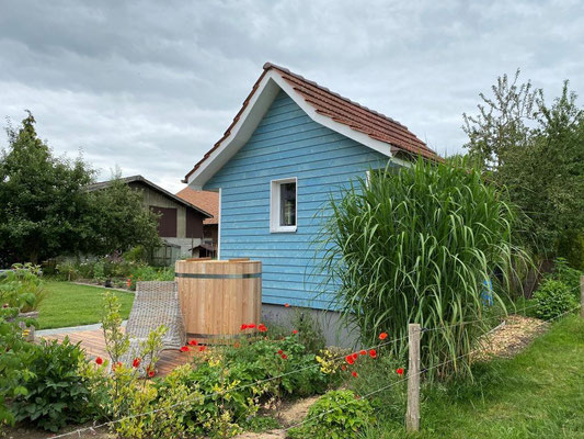 Umbau Bienenhaus in Sauna in Thörigen - Hosner Holzbau GmbH Röthenbach