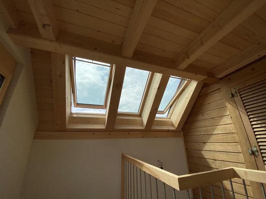 Neueinbau Dachfenster in Steinhof - Hosner Holzbau GmbH Röthenbach