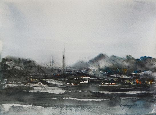 Après la tempête - William Castano - Aquarelle sur papier - 2020