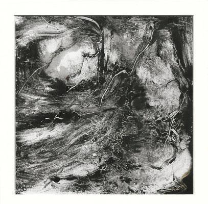 Sans titre IV - Sandrine Gatignol - Encre sur papier, monotype - 2020