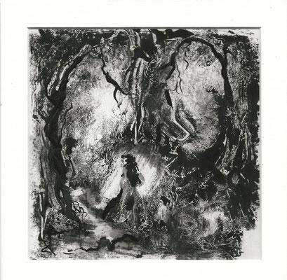 Sans titre V - Sandrine Gatignol - Encre sur papier, monotype - 2020