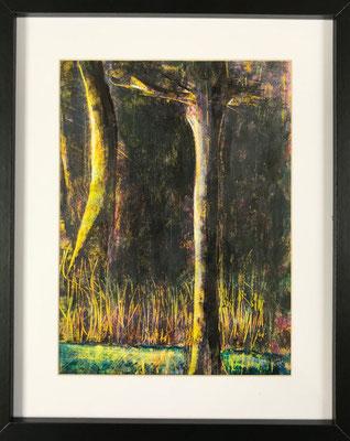 Sous-bois - Angelo Zurzolo - Acrylique sur papier - 2020