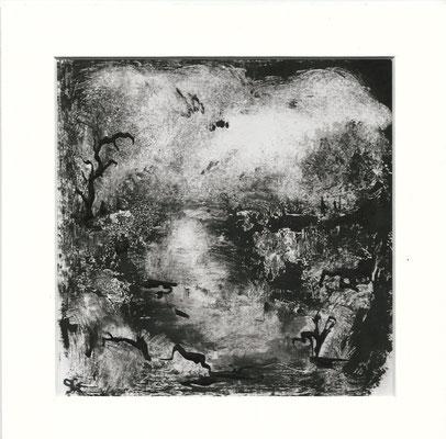 Sans titre I - Sandrine Gatignol - Encre sur papier, monotype - 2020