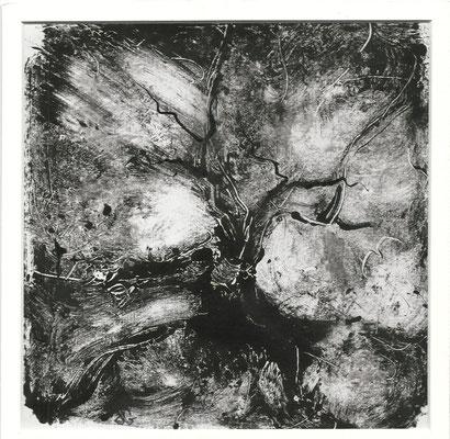 Sans titre III - Sandrine Gatignol - Encre sur papier, monotype - 2020