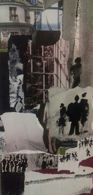Sans titre 1 - Cham - Collage sur toile - 2020