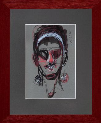 Portrait - Tatiana Ivchenkova - Techniques mixtes sur papier - 2020