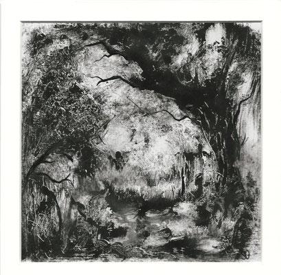 Sans titre II - Sandrine Gatignol - Encre sur papier, monotype - 2020
