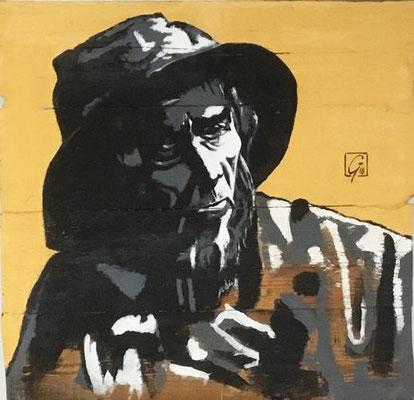 Marin (fond jaune) - Gérard Le Guern