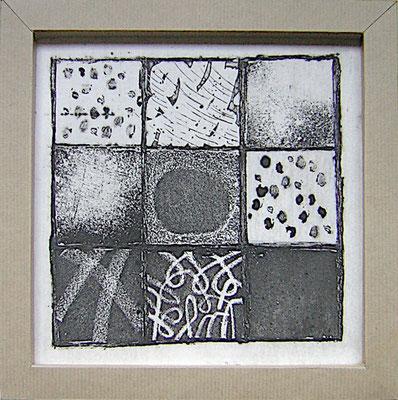 Vitrail B - Régine Hue - Gravure sur plexiglass - 2020