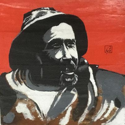 Marin (fond rouge) - Gérard Le Guern