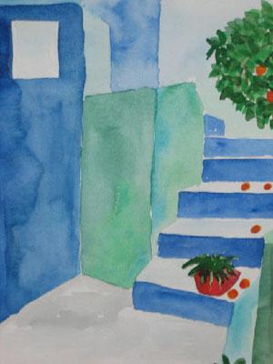 Griechische Treppe, 30x40