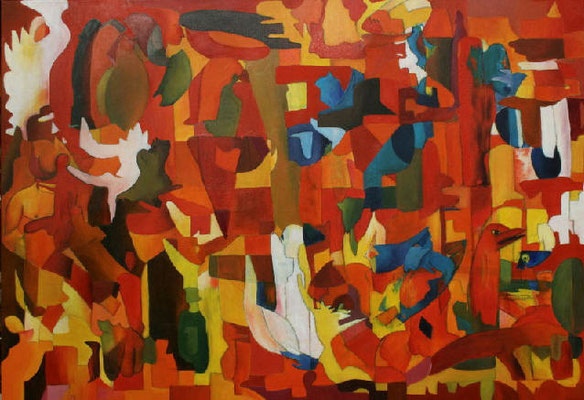 Engel, 2008, 70x100, Leinwand,   verkauft