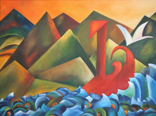 Eroberung, 2011, 60x80, Lainwand