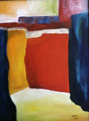 Kulisse I, 2009, 30x40, Leinwand auf Karton