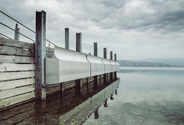Wellenbrecher Edelstahl / Bodensee