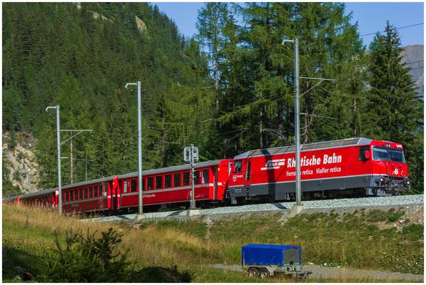 RhB Rhätische Bahn - Lokomotive 644 Savognin - Inbetriebnahme 14.04.1994 - Foto: 29.07.2018