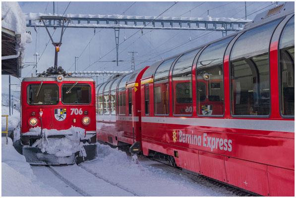RhB Rhätische Bahn - Lokomotive 706 Disentis/Mustér - Inbetriebnahme 09.06.1965 - Foto: 02.02.2019