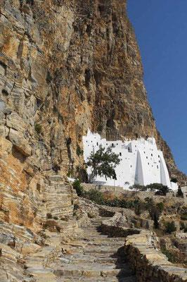 Amorgos - Kloster Chosowiótissa, Wein und Gebäck zur Begrüssung