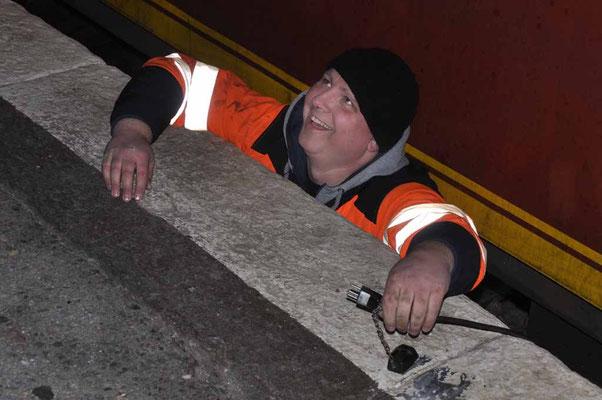 Eisenbahner an der Arbeit