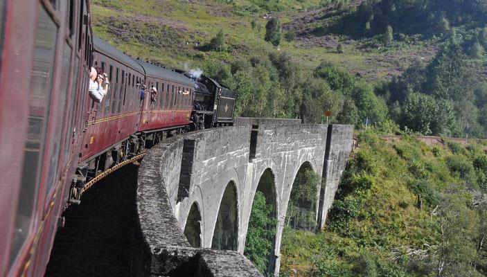 William-Mallaig (DampfzugThe Jacobite) - Glenfinnan-Viadukt