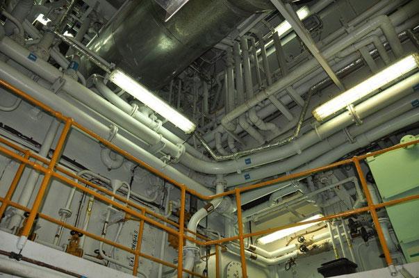 Decke des Maschinenraums
