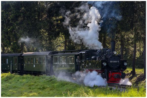 Harzer Schmalspurbahnen HSB (Wernigerode, Deutschland/Germany) Malletlokomotive 99 5906-5 - 03.06.2013
