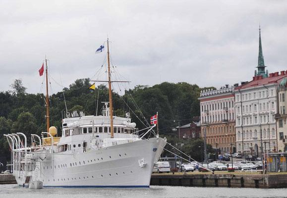 Helsinki, Besuch der Norwegischen Königlichen Yacht