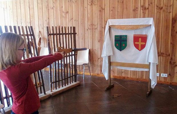 Jeu médiéval:Tir à l'arbalète