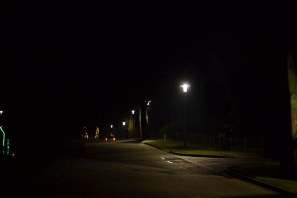 Auch im bebautem Wohngebiet Licht in jeder Ecke ... ohne Blendwirkung