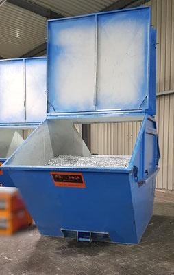 Schrott Container mit Deckel vom Schrotthandel Hagen