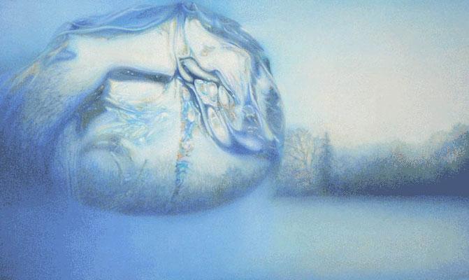 """Landscape shift""<br>oil, canvas100x60cm<br>private collection"
