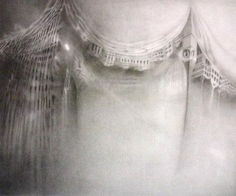 """""""das Gedächtnis der Wasserspiegelung II""""<br>pencil, paper50x60cm"""