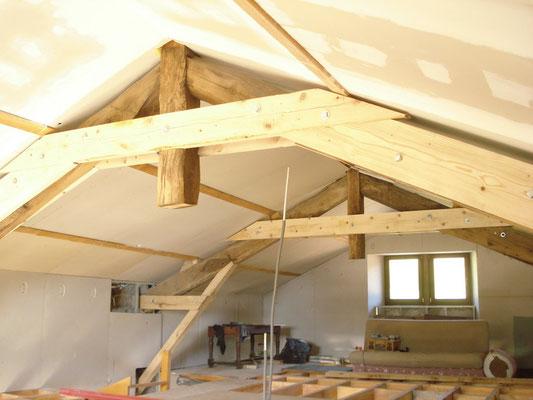 Isolation d'un plafond rampant