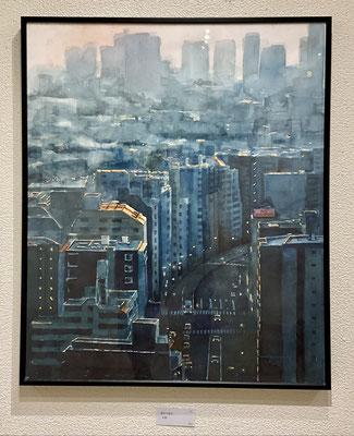 「都市平穏Ⅱ」 F20 水彩画