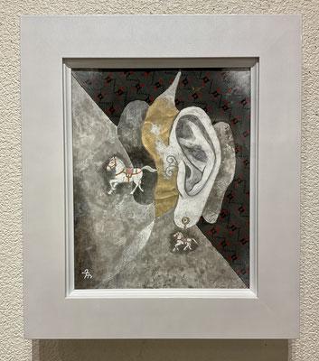 「horse earring」水彩画