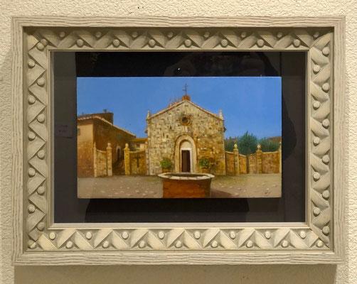 照山ひさ子「Monterggioni」24×14.5cm